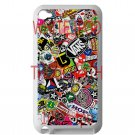 sticker bomb racing vans shorty's hop fit for ipod touch 4 white case cover