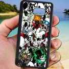 sticker bomb racing skull slash skeleton fit for samsung galaxy note 5 black case cover