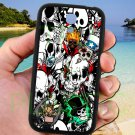 sticker bomb racing skull slash skeleton fit for samsung galaxy S4 S 4 S IV black case cover