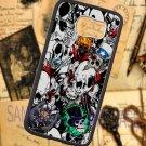 sticker bomb racing skull slash skeleton fit for samsung galaxy S6 S 6 S VI edge black case cover