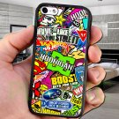 sticker bomb racing hoonigan subaru fit for iphone 4 4s black case cover