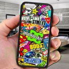 "sticker bomb racing hoonigan subaru fit for iphone 6 4.7"" black case cover"