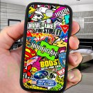 sticker bomb racing hoonigan subaru fit for samsung galaxy S4 S 4 S IV black case cover