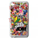 Eat Sleep JDM sticker bomb ghostbusters subaru fit for ipod touch 4 white case cover