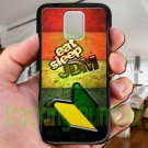 Eat Sleep JDM sticker bomb wood pattern fit for samsung galaxy S5 S 5 S V black case cover