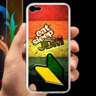 Eat Sleep JDM sticker bomb wood pattern fit for ipod touch 5 white case cover