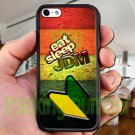 Eat Sleep JDM sticker bomb wood pattern fit for iphone 5C black case cover