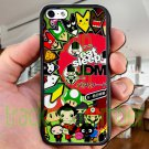 "Eat Sleep JDM sticker bomb japan racing fit for iphone 6 4.7"" black case cover"