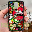 Eat Sleep JDM sticker bomb japan racing fit for samsung galaxy S5 S 5 S V black case cover