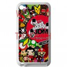 Eat Sleep JDM sticker bomb japan racing fit for ipod touch 4 white case cover