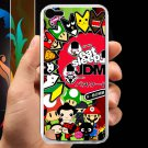 Eat Sleep JDM sticker bomb japan racing fit for ipod touch 5 white case cover