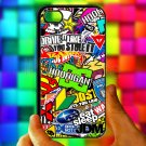Eat Sleep JDM sticker bomb hoonigan subaru fit for iphone 4 4s black case cover