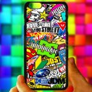 "Eat Sleep JDM sticker bomb hoonigan subaru fit for iphone 6 plus 5.5"" black case cover"