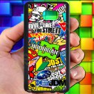 Eat Sleep JDM sticker bomb hoonigan subaru fit for samsung galaxy S6 S 6 S VI edge+ black case cover