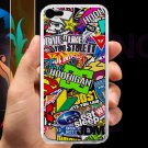 Eat Sleep JDM sticker bomb hoonigan subaru fit for ipod touch 5 white case cover