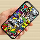 Eat Sleep JDM sticker bomb gymkhana illest subaru fit for iphone 5C black case cover