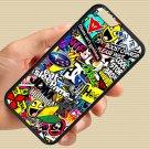 "Eat Sleep JDM sticker bomb gymkhana illest subaru fit for iphone 6 4.7"" black case cover"