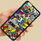 Eat Sleep JDM sticker bomb gymkhana illest subaru fit for iphone 6s plus black case cover