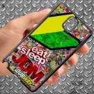 Eat Sleep JDM sticker bomb motocross dubway fit for samsung galaxy note 3 black case cover