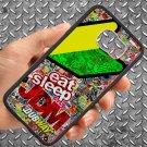 Eat Sleep JDM sticker bomb motocross dubway fit for samsung galaxy S6 S 6 S VI edge black case cover