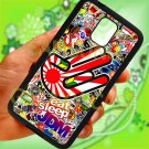 Eat Sleep JDM sticker bomb hand racing fit for samsung galaxy note 4 black case cover