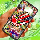 Eat Sleep JDM sticker bomb hand racing fit for samsung galaxy S6 S 6 S VI black case cover