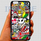 "Eat Sleep JDM sticker bomb hand hand logo fit for iphone 6 plus 5.5"" black case cover"