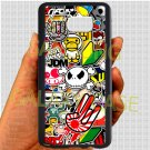 Eat Sleep JDM sticker bomb hand hand logo fit for samsung galaxy note 5 black case cover