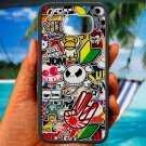 Eat Sleep JDM sticker bomb hand hand logo fit for samsung galaxy S6 S 6 S VI edge black case cover
