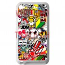 Eat Sleep JDM sticker bomb hand hand logo fit for ipod touch 4 white case cover