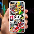 Eat Sleep JDM sticker bomb hand hand logo fit for ipod touch 5 white case cover