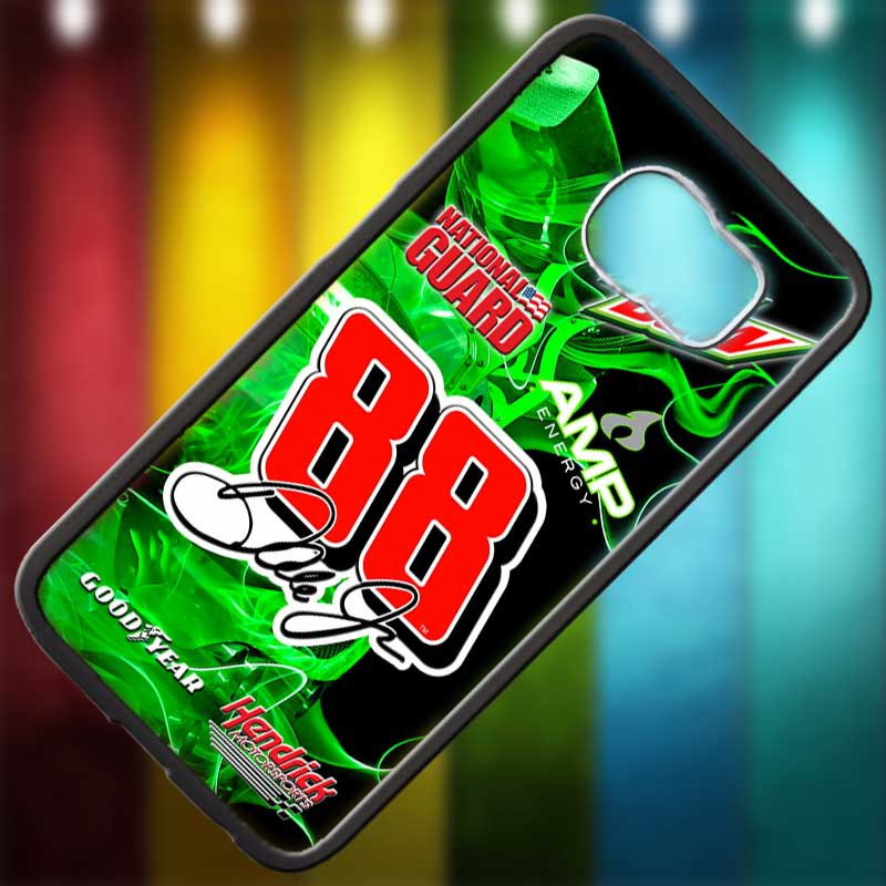 Dale Earnhardt Jr nascar fit for samsung galaxy S6 S 6 S VI black case cover