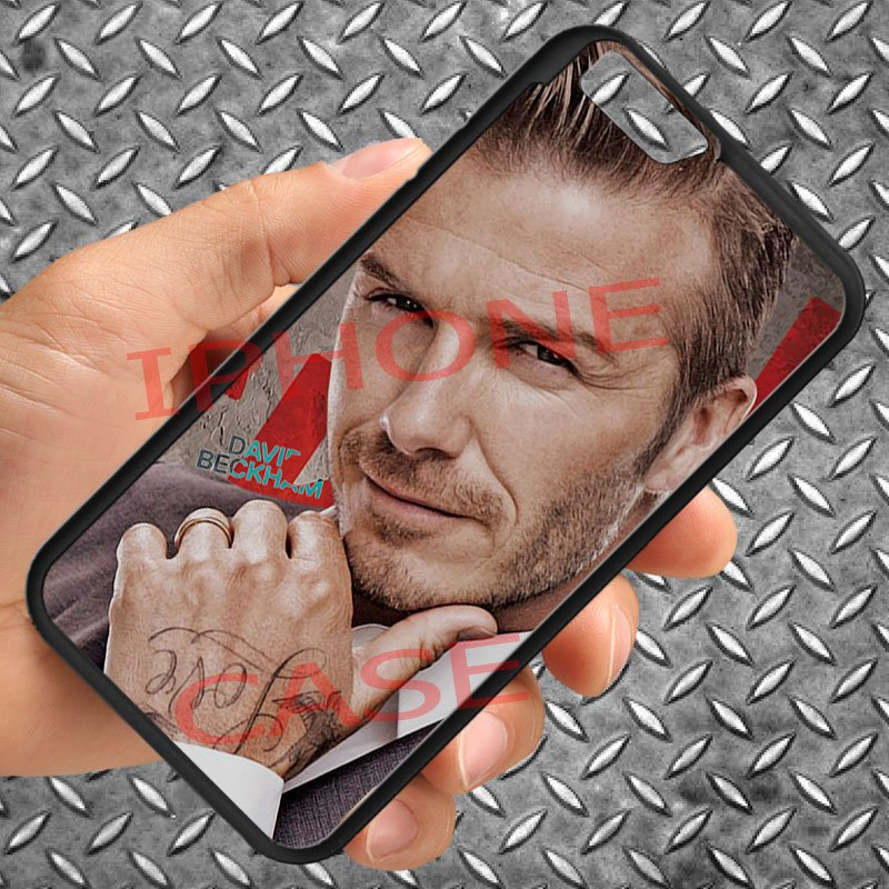 "david beckham tattoo logo fit for iphone 6 4.7"" black case cover"