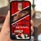 Ayrton Senna F1 legend fit for samsung galaxy note 4 black case cover