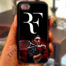 "roger federer logo tennis signature fit for iphone 6 4.7"" black case cover"