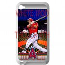 Mike Trout Baseball Jersey Los Angeles Angels fit for ipod touch 4 white case cover