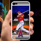 Mike Trout Baseball Jersey Los Angeles Angels fit for ipod touch 5 white case cover
