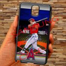 Mike Trout Baseball Jersey Los Angeles Angels fit for samsung galaxy note 3 black case cover