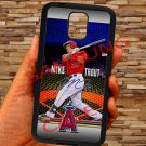 Mike Trout Baseball Jersey Los Angeles Angels fit for samsung galaxy note 4 black case cover