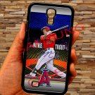 Mike Trout Baseball Jersey Los Angeles Angels fit for samsung galaxy S4 S 4 S IV black case cover
