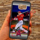 Mike Trout Baseball Jersey Los Angeles Angels fit for samsung galaxy S6 S 6 S VI black case cover