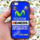 valentino rossi logo signature moto gp fit for iphone 5C black case cover