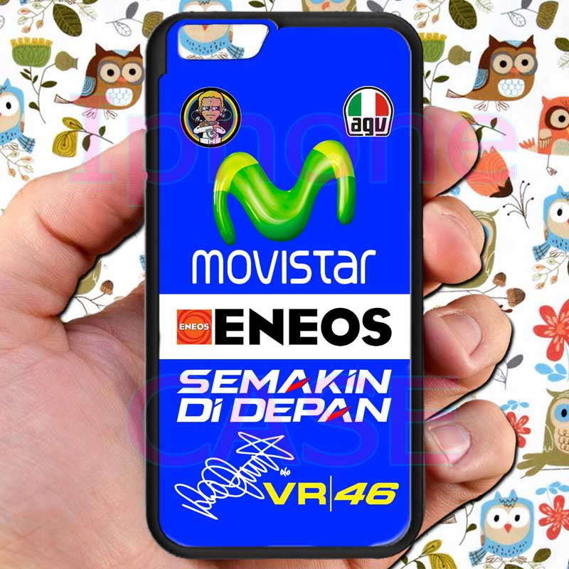 "valentino rossi logo signature moto gp fit for iphone 6 4.7"" black case cover"