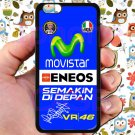 valentino rossi logo signature moto gp fit for iphone 6s plus black case cover