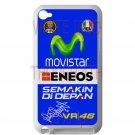 valentino rossi logo signature moto gp fit for ipod touch 4 white case cover