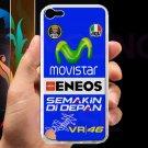 valentino rossi logo signature moto gp fit for ipod touch 5 white case cover