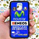 valentino rossi logo signature moto gp fit for samsung galaxy note 4 black case cover