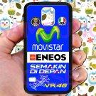 valentino rossi logo signature moto gp fit for samsung galaxy S5 S 5 S V black case cover