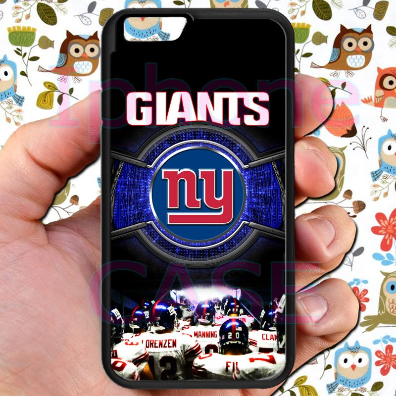 """new york giants football beckam fit for iphone 6 4.7"""" black case cover"""