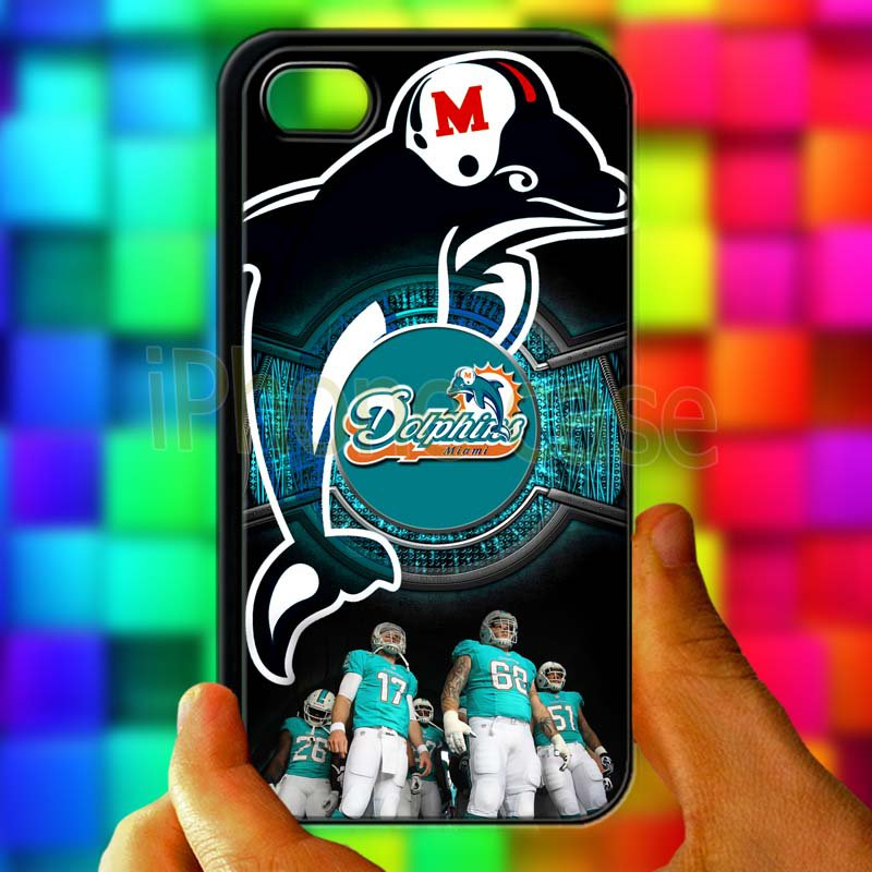 miami dolphins ryan tannehill fit for iphone 4 4s black case cover